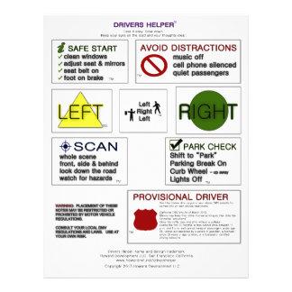 Drivers Helper Smart Notes - Drivers Ed Tips Flyer