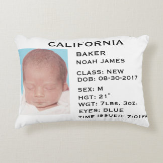"""""""Driver's License"""" Baby Announcement Pillow"""