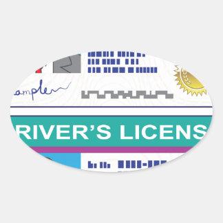 Driver's License Oval Sticker