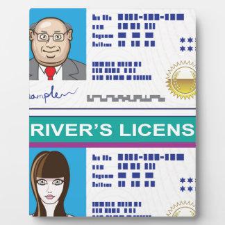 Driver's License Plaque