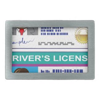 Driver's License Rectangular Belt Buckle