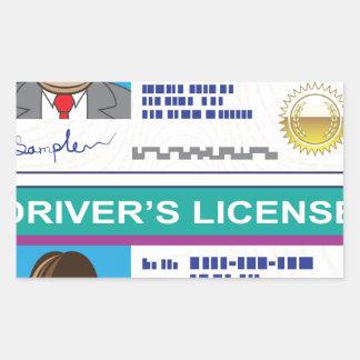 Driver's License Rectangular Sticker