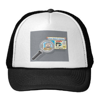 Driver's License under Magnifying glass Trucker Hat