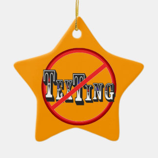 Drivers No Texting Double-Sided Star Ceramic Christmas Ornament