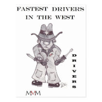 Drivers the Cowboy -Fastest Drivers in the west Postcard