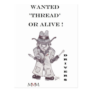 Drivers the Cowboy -Wanted Thread or alive Postcard