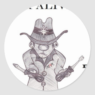 Drivers the Cowboy -Wanted Thread or alive Sticker