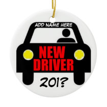 Drivers Training Keepsake Ceramic Ornament