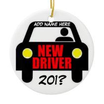 Drivers Training Keepsake Ceramic Ornament