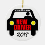 Drivers Training Keepsake Double-Sided Ceramic Round Christmas Ornament