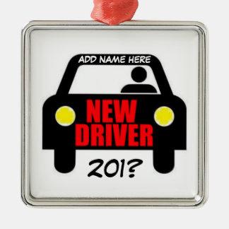 Drivers Training Keepsake Square Metal Christmas Ornament