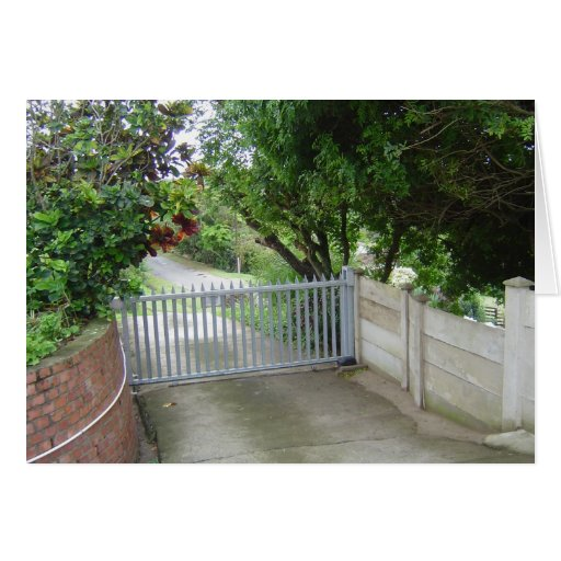 Driveway Gate Greeting Cards
