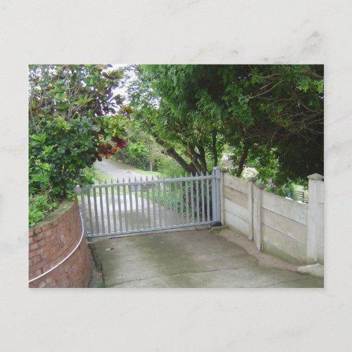 Driveway Gate postcard