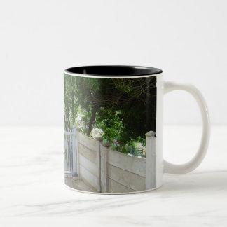 Driveway Gate Two-Tone Coffee Mug