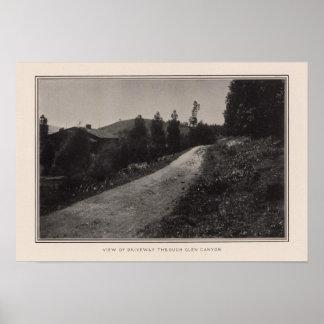 Driveway, Glen Canyon, San Francisco Poster