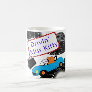 Drivin Miss Kitty Coffee Mug