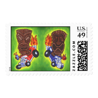Drivin Tikis Stamp