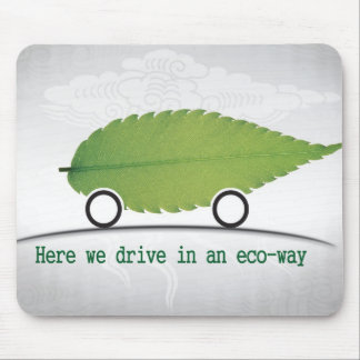 driving a car eco-friendly mouse pads template