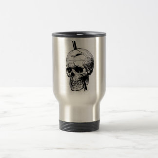 Driving A Long Nail Through The Skull Of A Corpse 15 Oz Stainless Steel Travel Mug