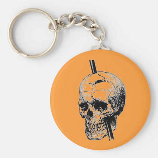 Driving A Long Nail Through The Skull Of A Corpse Keychain