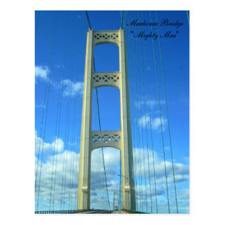 Driving Across the Mackinac Bridge Postcard