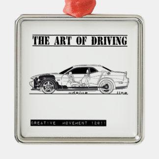 Driving Art Muscle Car Christmas Ornaments