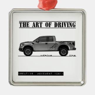 Driving Art Pickup Truck Ornaments