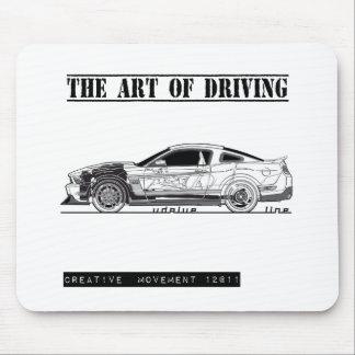 Driving Art Pony Car Mouse Pad