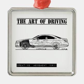 Driving Art Sedan Car Christmas Tree Ornament