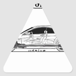 Driving Art Sedan Car Triangle Sticker