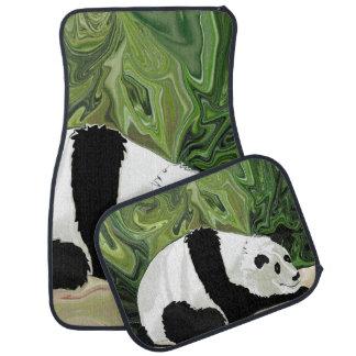 Driving at Panda Pace Car Mat