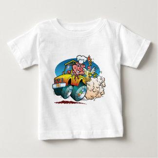 Driving BBQ Pig Baby T-Shirt