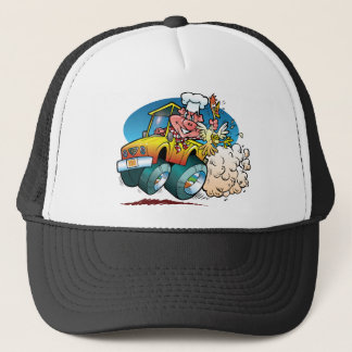 Driving BBQ Pig Trucker Hat