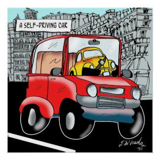 Driving Cartoon 9308 Poster