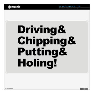 Driving&Chipping&Putting&Holing (blk) Decal For MacBook Air