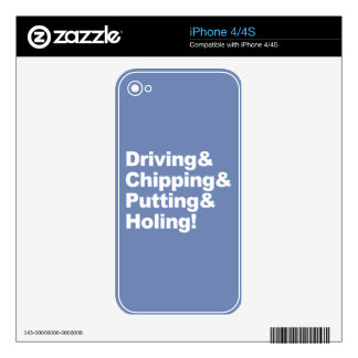 Driving&Chipping&Putting&Holing (wht) Decals For The iPhone 4S