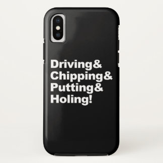 Driving&Chipping&Putting&Holing (wht) iPhone X Case