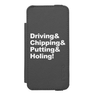Driving&Chipping&Putting&Holing (wht) Wallet Case For iPhone SE/5/5s