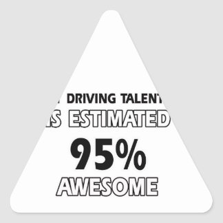 driving designs triangle sticker