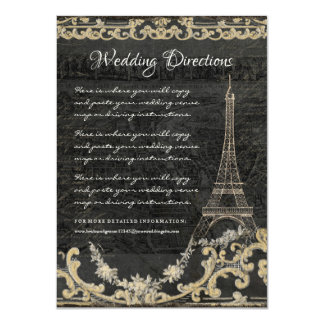 Driving Directions Eiffel Tower Chalk Typography Card