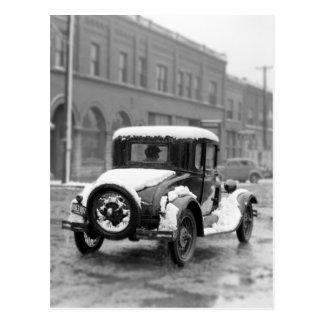 Driving Down Main Street Postcard