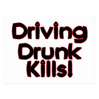 Driving Drunk Kills Post Cards