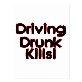 Driving Drunk Kills Postcard