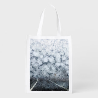 Driving during thick fog grocery bag