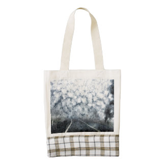 Driving during thick fog zazzle HEART tote bag