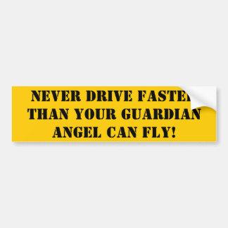 Driving Fast Bumper Sticker Car Bumper Sticker