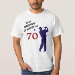 Hand shaped Driving Hard at 70 Golf T-Shirt