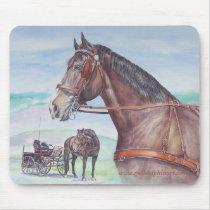 Driving Horse Mousepad