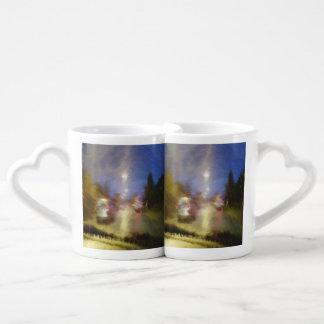 driving in a car coffee mug set