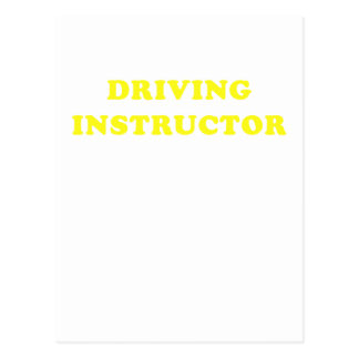 Driving Instructor Postcard